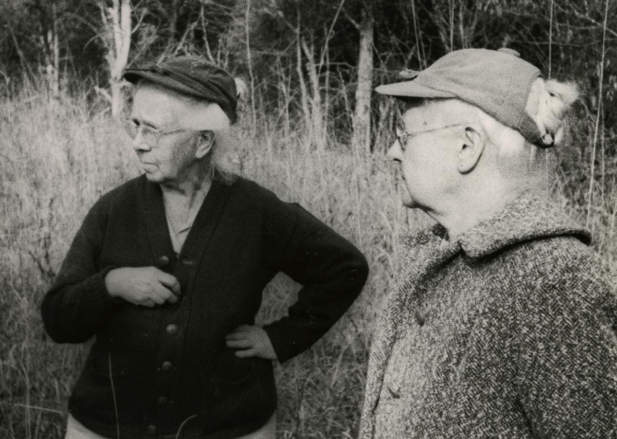 Lucy (left) and Annette Braun, early leaders in the conservation movement, helped preserve natural places in Ohio and Kentucky, including the Edge of Appalachia Preserve System in Adams, County, Ohio. Courtesy: Braun Photographic Collection, Cincinnati History Library & Archives, Cincinnati Museum Center.